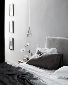 ♅ Dove Gray Home Decor ♅  calming grey bedroom