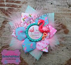 Be a Flamingo in a Flock of Pigeons Flower Clip