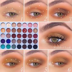 x Original Eyeshadow Palette Créme- Applied to the lid and transition area also lower lash line (base… What Is Makeup, Makeup Eye Looks, Eye Makeup Steps, Beautiful Eye Makeup, Love Makeup, Makeup Inspo, Men Makeup, Scary Makeup, Simple Makeup