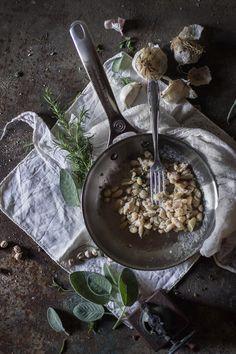 Pan-sautéed beans for Cannellini Hummus. #vegan antipast spread | Hortus Cuisine - Naturally Italian.