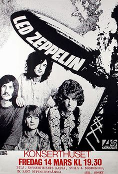 Led Zeppelin poster in Swedish... I think
