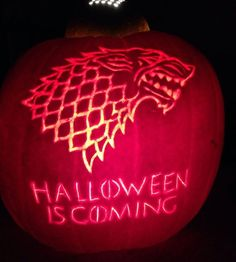 Literary Pumpkin Carving Ideas: Game of Thrones