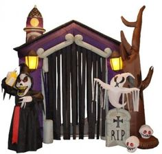 CHECK OUT! https://seethis.co/g2AWW2/ #Halloween #Inflatable #Haunted #House #Castle #WithSkeleton #Ghost