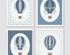 Aire caliente globo vivero arte decoración con globos de aire
