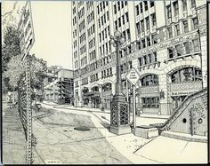 Urban sketch, (c) Paul Heaston.