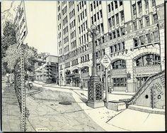 Urban sketch, (c) Paul Heaston.