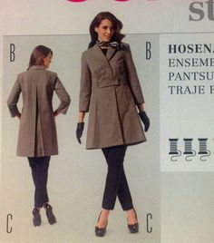 Burda 7162 Sewing Pattern Jacket Coat Blazer leggings UNCUT New Size 6 8 10 12 14 16 18  Gorgeous coat  jacket Misses Ladies