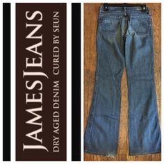 "JAMES DENIMS Inseam 31""  100% Cotton     Normal wear.                TRADES  AUTHENTIC  PAYPAL  10% SELLER ⛔️ Accept Offers  Fast Shipping  LOW BALLERS James Jeans Jeans Boot Cut"
