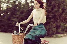 dressed up on a bike! :)