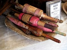 Rolling Pins found at Marburger Farm Antique Show - Round Top, TX #rolling_pins #marburger_farm #antique_show