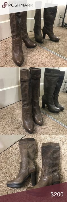 Frye distressed mimi scrunch Boot all leather In great shape just very slight wear as pictured Frye Shoes Heeled Boots