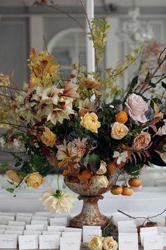 First Snow: floral arrangement by Saipua. #winterwedding