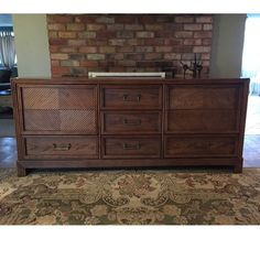 Solid wood vintage 9 drawer dresser! Solid wood. Drawers are doveta...