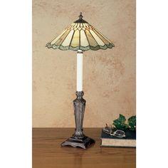 28 Inch H Jadestone Carousel Buffet Lamp - Custom Made