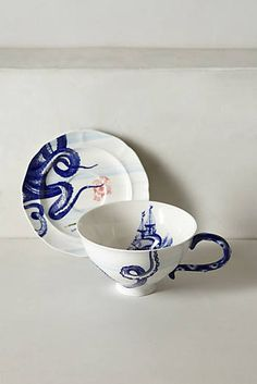 From The Deep Cup & Saucer | Anthropologie