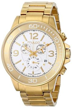 Women's Wrist Watches - MULCO Unisex MW490147321 Analog Display Swiss Quartz Gold Watch -- For more information, visit image link.