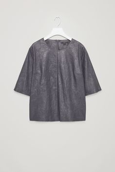 COS | Crinkled leather top