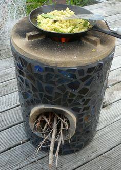 Nice looking rocket stove