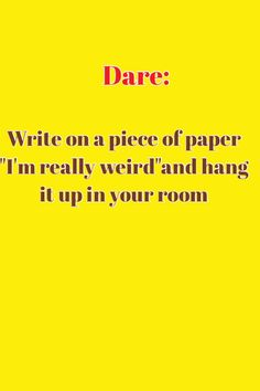 Good dares for the game truth or dare