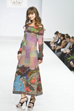 MOUNTAIN RIVER handmade knitted dress for women