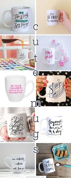 Cute mugs (great for gifts!) || katelynbrooke.com