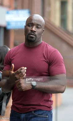Christmas arrived early for Luke Cage fans when the trailer for the upcoming Marvel Netflix series premiered at Comic-Con in San Diego. Mike Colter, who plays Gorgeous Black Men, Handsome Black Men, Beautiful Men, Bald Black Man, Luke Cage Netflix, Mike Colter, Luke Cage Marvel, Power Man, Black Actors