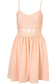 Peach Mini Dress, £36 at Topshop. #pastel #dress #short