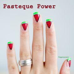 pasteque-power watermelon #nail #nails #nailart