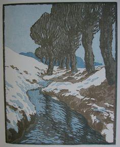 block print. Modern Printmakers: Carl Thiemann (German, 1881 - 1966)