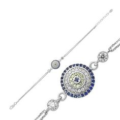 Amazon.com: Evil Eye Bracelet 925 Sterling Silver Filled , Real Sapphire and Cz Stones by Evil Eye Gems (Evil Eye Jewelry): Everything Else
