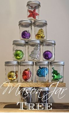What is the most unusual Christmas Decoration you have?  This is my Mason Jar Christmas tree!  A winner at Junkmarket Style!