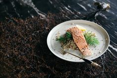 Spice & honey salmon with couscous Honey Salmon, Couscous, Fish Recipes, Food Styling, Spices, Bread, Spice, Breads, Baking