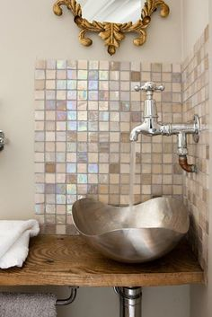 i need a small bathroom sink Bathroom Sink Design, Small Bathroom Sinks, Bathroom Interior, Master Bathroom, Bathroom Ideas, Small Sink, Mirror Bathroom, Boho Bathroom, Bathroom Wallpaper