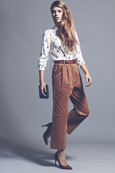 editorial de moda tendencias otoño-invierno 2012-13: camisa estampada de zara