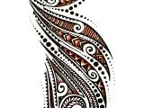 Beautiful Polynesian half sleeve tattoo design