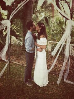Perfection. Mexican wedding dress and palm trees.. oh, and love