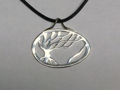 SEA BREEZE Sterling Silver Tree Pendant, Barb's Branches, via Etsy.