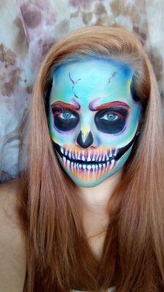 Rainbow Skull #makeup #beauty