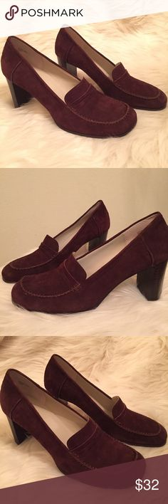 """🆕 Anne Klein Brown Suede Heels Size 10 🆕 NWT Anne Klein Chocolate Brown Suede Heels.  Women's Size 10 Medium.  Material: Leather Upper and balance man made.  Heel is 3.25"""".   🚫NO TRADES OR LOW BALL OFFERS🚫 A-11 Anne Klein Shoes Heels"""