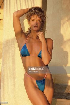 News Photo : Model Rachel Hunter is photographed for the 1989...