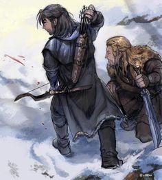 "Mighty-warriors-to-be! ^^ berries-eater: "" sigun-i-loki: "" Kili and Fili by 이맘 ( (by imam). Legolas, Thranduil, Gandalf, Fili Y Kili, Kili And Tauriel, Baggins Bilbo, Thorin Oakenshield, Hobbit Art, O Hobbit"