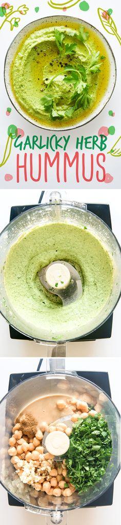 herb hummus | healthy recipe ideas @xhealthyrecipex |