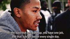 [ANIMATED; click twice] Derrick Rose quote // NBA Bulls basketball sports motivation self-improvement philosophy