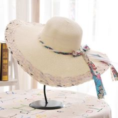 Chic Kink Lace-Up Embellished Color Block Wide Brim Straw Hat For Women.  Vintage AccessoriesFashion AccessoriesOnline Fashion StoresHats ... 6d0cd75781ae