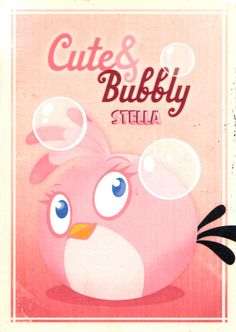 Angry Birds Stella Cute & Bubbly (Card from Finland)