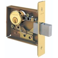 Schlage L463 L-Series Commercial Grade 1 Single Cylinder Classroom Small Case Mortise Lock Deadbolt, Silver stainless steel