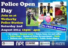 SAVE THE DATE: West Yorkshire Police - Leeds Outer North East Wetherby Police Open Day 2nd August - a great family day out #wetherby