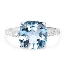 4.15 Carat Genuine Blue Topaz #WomensRings