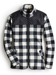 A quilted buffalo check fleece jacket is the perfect cooler weather gift.