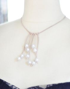 DIY Jewelry: DIY Jewelry: Pearl  Leather Necklace